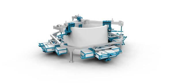 Ein Prototyp der Maschine zum Rückbau von Spannbetontürmen soll Ende des Jahres fertig werden (Bild: WP Systems)