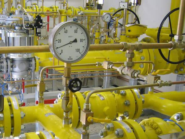 Rohrleitungssystem in einer Power-to-Gas-Anlage (Bild: TÜV Süd)