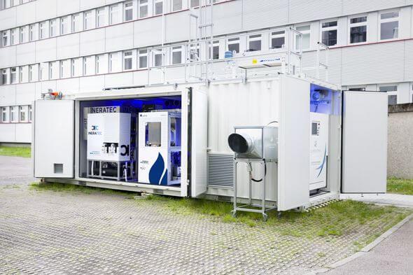 Kohlendioxidneutrale Kraftstoffe aus Luft und StromKohlendioxidneutrale Kraftstoffe aus Luft und Strom (Bild: KIT)