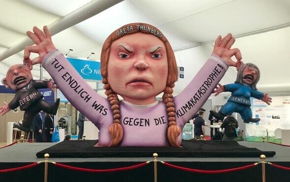 Zeigt auch in Husum Präsenz: Greta Thunberg, Vorreiterin bei #FridaysforFuture (Bild: K. Radtke)