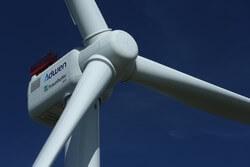 Forschungs-Windenergieanlage AD 8-180 am IWES-Standort Bremerhaven (Bild: © JM_)