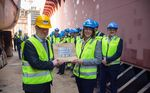 Nexans celebrates the next step in the construction of its Aurora cable installation vessel