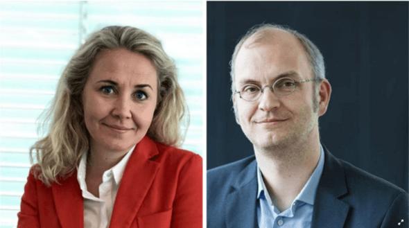 Statkraft's leaders of public affairs and strategy, Julie Wedege and Henrik Sætness (Image: Hans Fredrik Asbjørnsen/Statkraft)