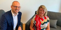 RPS Susan Farr and Casper Frost Thorhauge at contract signing ceremony (Image: RPS)