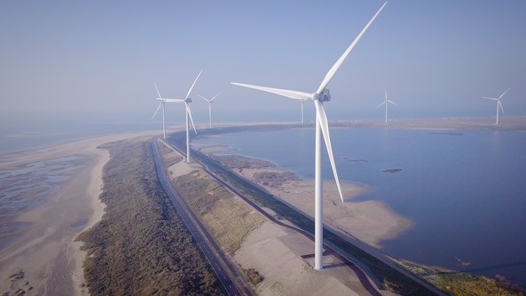 Windpark Slufterdam (Bild: Eneco)