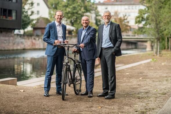 Das Vorstandsteam der UmweltBank: Jürgen Koppmann, Goran Basic, Stefan Weber (v.l.n.r.) (Bild: UmweltBank)