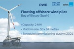 RWE Renewables and Saitec Offshore Technologies test innovative floating platform solution for offshore wind turbines