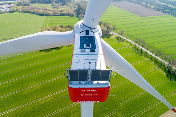 One size smaller still: Nordex's Delta4000 turbine with a capacity of 4 to 4.5 MW (Image: Nordex)