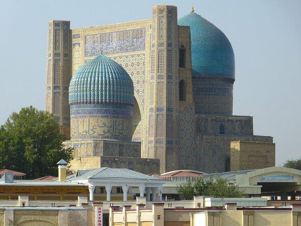 Die Moschee der Bibi Chanum in Samarkand, Usbekistan (Bild: Pixabay)
