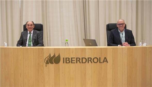 Ignacio Galán, chairman of Iberdrola, and Julián Martínez-Simancas, secretary (Image: Iberdrola)