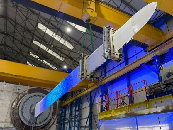 ACT Blade's innovative wind turbine blade design (Image: ORE Catapult)