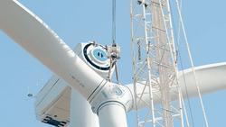 Der Bau der drei Nordex-Windturbinen begann vor rund einem Jahr und wurde im April fertiggestellt (Bild: RWE)