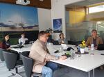 Videokonferenz mit dem W.E.B-Vorstand
