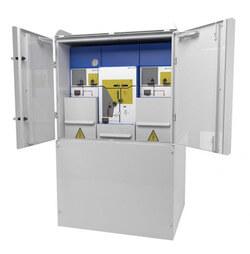 Ormazabalbietet jetzt für Schaltanlagen der Produktfamilien cgm.3, cgm.800 und cgmcosmos eine Optionfür die Außenaufstellung an (Foto: Ormazabal GmbH)
