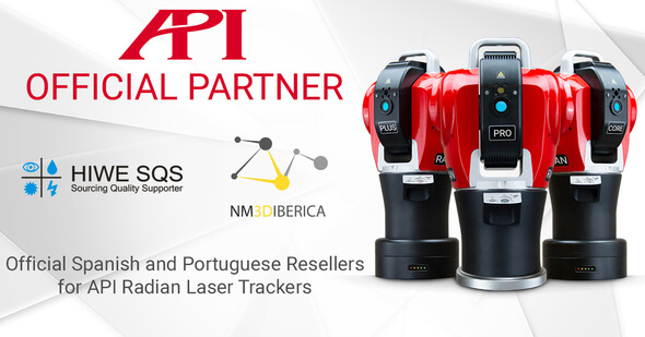 Official API Partners for 3D Metrology in Spain and Portugal: NM3D IBÉRICA and HIWE SQS (Image: API)