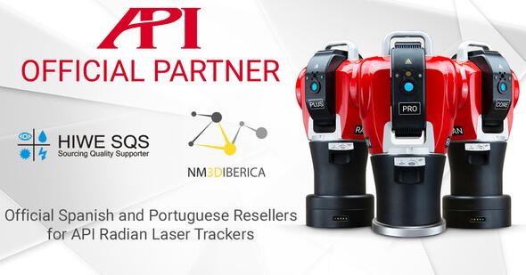 Offizielle API Partner für 3D Metrologie in Spanien und Portugal: NM3D IBÉRICA und HIWE SQS (Bild: API)