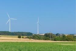 Seit August am Netz: Der Windpark Kröppen in der Südwestpfalz nahe der französischen Grenze (Bild: juwi)
