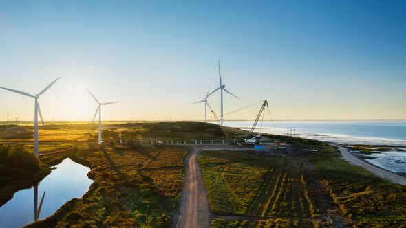 Apple is investing in the construction of two of the world's largest onshore wind turbines near the Danish town of Esbjerg (Image: Apple)