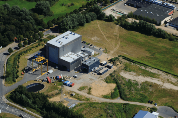 Aerial view of DyNaLab and Hil-GridCoP test bench (Image: © Peter Sondermann City-Luftbilder)