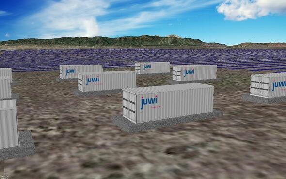 Das Batteriespeichersystem wird nach der Fertigstellung eines der größten im US-Bundesstaat Colorado sein (Bild: juwi)