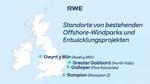 RWE schließt Pachtverträge zur Entwicklung von vier Offshore-Wind-Erweiterungsprojekten in Großbritannien