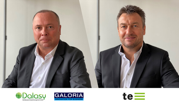 Rainer J. Langnickel, Dalasy, und Stefan Keller, UDI (Bild: te management / UDI)