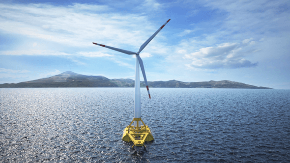 RWE und Saitec Offshore Technologies testen innovative Schwimmplattform für Offshore-Windturbinen (Bild: Saitec Offshore Technologies)