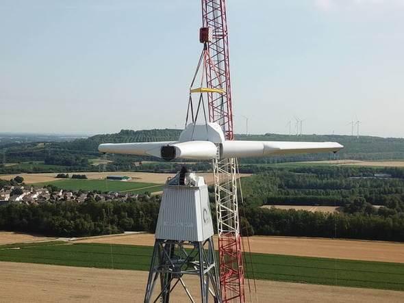 Die Windturbine Vertical Sky® (Bild: Agile Wind Power)