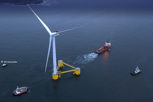 ABB's OCTOPUS software will cut the transfer times between land and wind farms (Image: EDP Renewables via ABB)