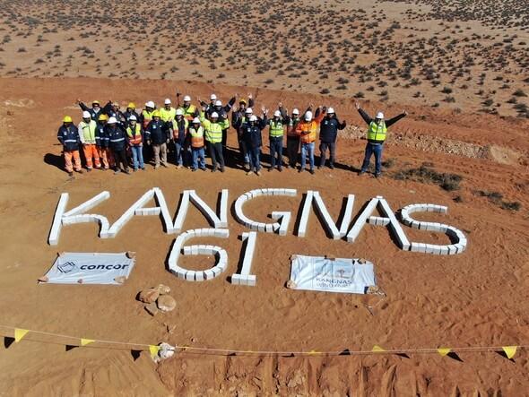 Eines von nur zwei Windparkprojekten, das dieses Jahr in Südafrika vollendet wurde: Der Kangnas-Windpark mit 61 Anlagen (Bild: Kangnas Wind)