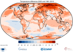 Copernicus: 2020 warmest year on record for Europe; globally, 2020 ties with 2016 for warmest year recorded