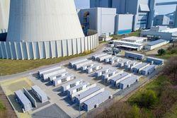 Die BigBattery Lausitz am Kraftwerksstandort Schwarze Pumpe (Bild: Andreas Franke für LEAG )