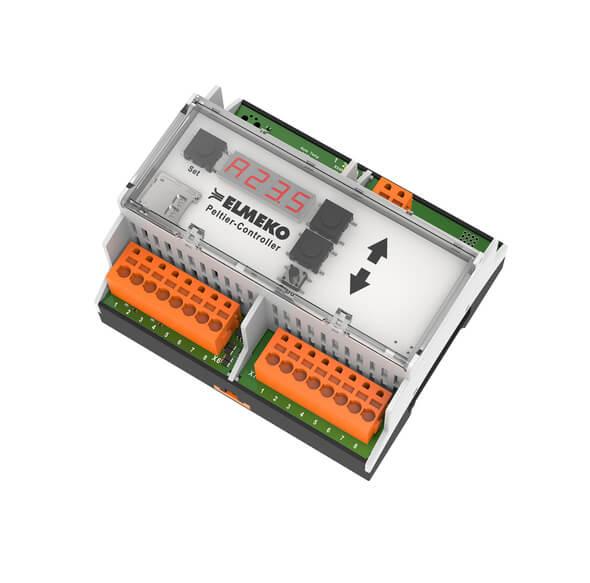Der ELMEKO-Controller TPC 300 für die Überwachung von Temperatur und Feuchte in der Schaltschranktechnik ist konzipiert für die Regelung von Kühl- und Entfeuchtungsgeräten mit Peltiertechnik. (Bild: ELMEKO)