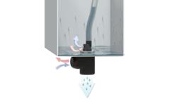 Über die Out-Fit-Bauteile gelingt ein sicherer Druckausgleich im geschützten Gehäuse sowie die Kondensat-Ableitung (Bild: ELMEKO)