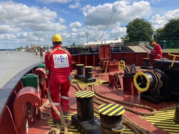 Ein Seemann an Bord eines EMS-Fehn-Group-Frachters (Bild: EMS-Fehn-Group)