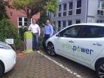 Elektroautos mit echtem Ökostrom von grün.power laden