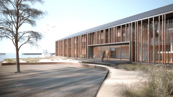 Visualisierung mit angelegten Außenbereichen (Bild: Borkum Hafen Immobilien)