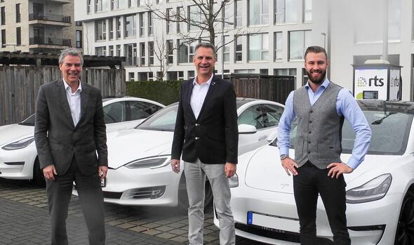 Die Leitung des Trident-Projektes bei der RTS Wind AG, vlnr Stefan Lücking, Ivo Lippe und Jerome Lippe (Bild: RTS Wind AG)