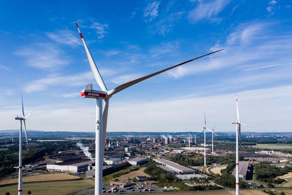 Windenergieanlagen im Projekt 'Windwasserstoff Salzgitter' (Bild: Avacon Natur GmbH)
