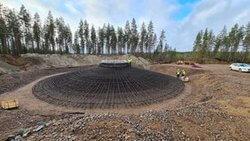 Fundamentbauarbeiten im finnischen Windpark Konttisuo (Bild: Energiequelle)