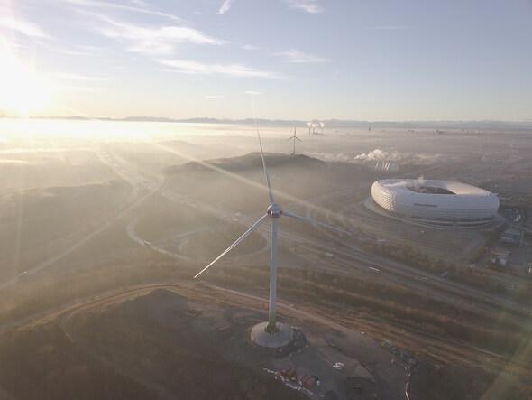Panoramabild zweites Windrad (Foto: Peter Rintisch)