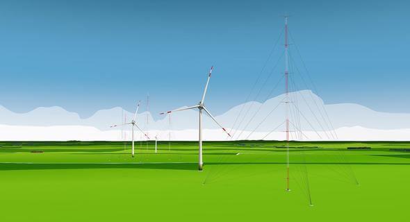 Visualisierung Forschungspark Windenergie (Bild: DLR)