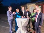 Premiere in Rheinland-Pfalz: Ministerpräsidentin Dreyer, wiwi consult und Lanthan Safe Sky nehmen System zur Bedarfsgerechten Nachtkennzeichnung in Betrieb