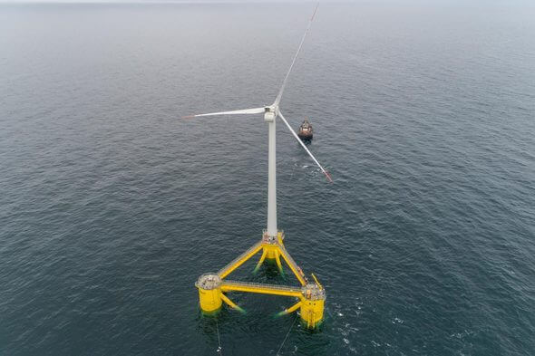 Cobra Group's floating wind farm is currently being installed at Kincardine off the Scottish coast (Image: Cobra Group).