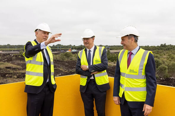 The announcement was made at the Cloncreen Wind Farm* (Image: Bord na Móna )