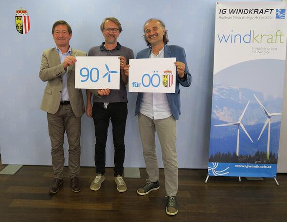 Stefan Moidl, Hannes Hohensinner, Joachim Payr (Bild: IG Windkraft)