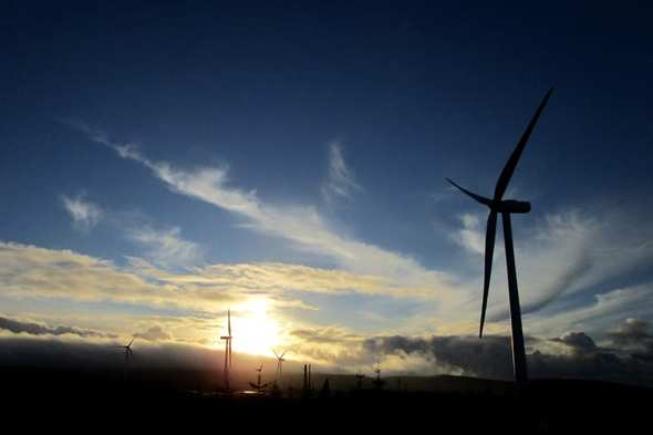 The 15-turbine extension to the Kype Muir wind farm is located in South Lanarkshire, around five kilometres to the south of Strathaven (Image: Banks Group)