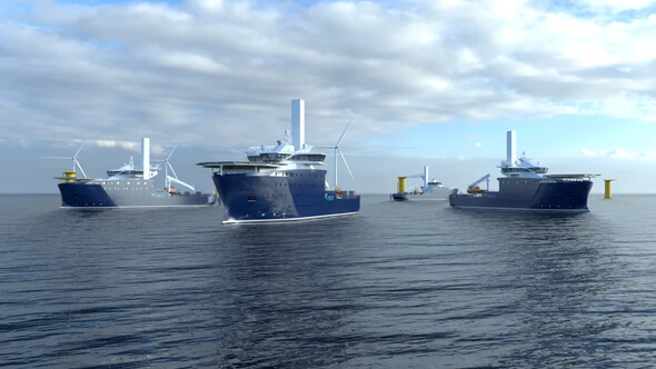 Kongsberg Maritime will supply highly efficient PM propulsion for Rem Offshore's new wind farm service vessels (Image: Kongsberg Maritime)
