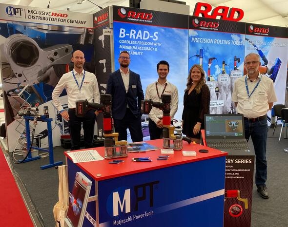 M-PT und RAD Torque Systems stellen gemeinsam auf der HUSUM Wind aus (Bild: M-PT)