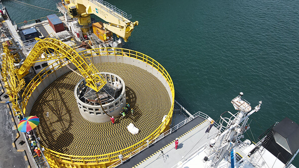 LS Cable & System's submarine cables are being shipped at the Donghae Port in Gangwon-do (Image: LS Cable & System)